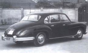 Aside from the two-door sedan, Carozzeria Touring also built a four-door.