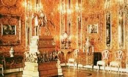 The Amber Room was reassembled by the Germans in the Königsberg Castle during WWII.
