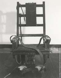 A replica electric chair is a highlight of the Sing Sing Prison Museum.