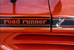 A cartoon Road Runner graphic was located at the rear edge of the trunk.