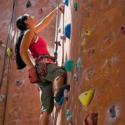 Challenge yourself physically with a new sport like rock climbing.