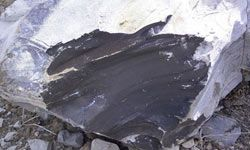 Shale oil is a form of syncrude produced from the rock marlstone.