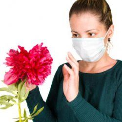 Wearing a pollen filter mask can help prevent sneezing and coughing.